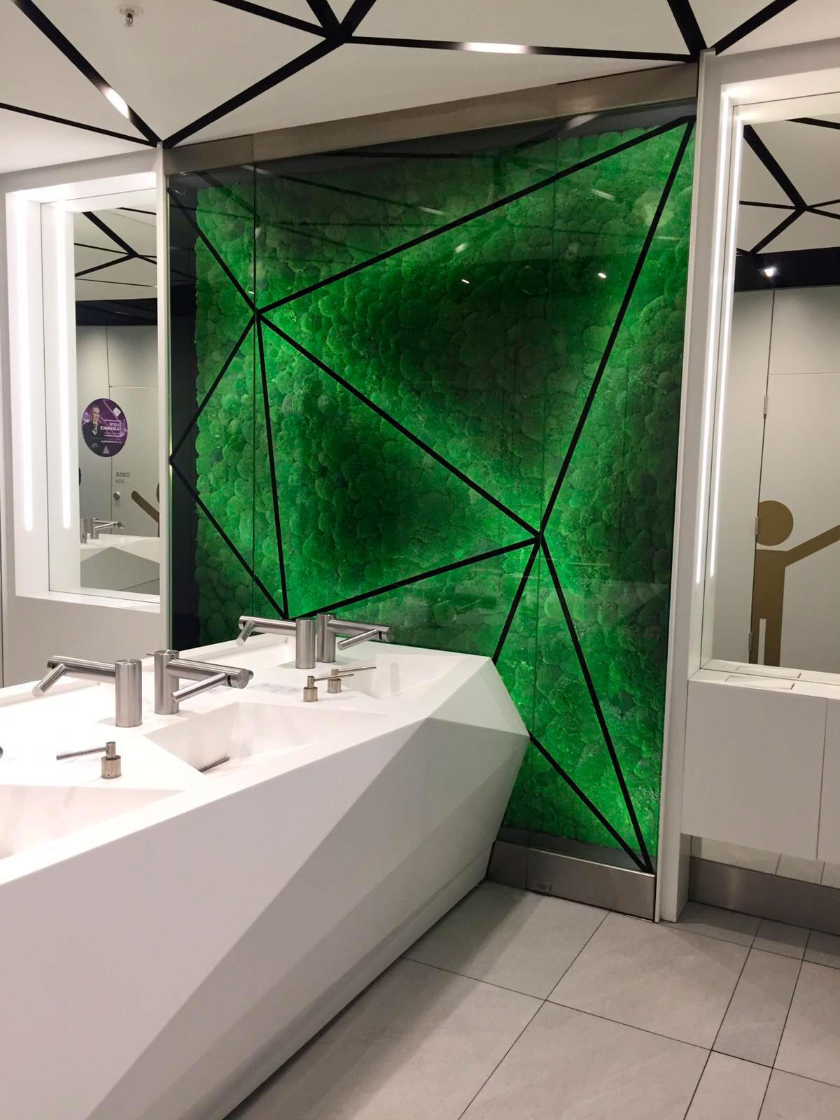 Jardin vertical en baño