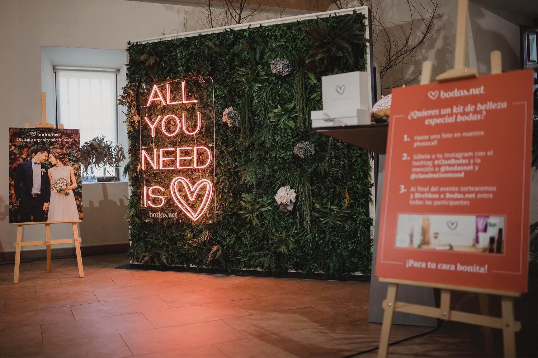 Photocall de jardin vertical artificial