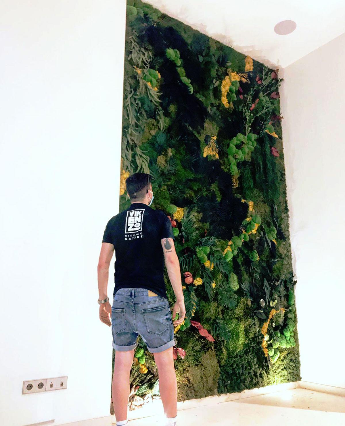 Jardin vertical en Ibiza